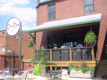 The City Tap deck and courtyard, Pittsboro, NC