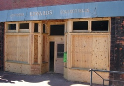 Historic building storefront restoration